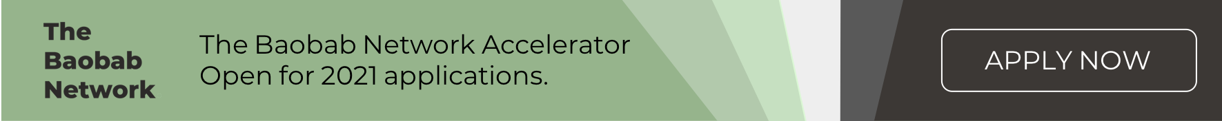 The Baobab Network Accelerator Applications Banner